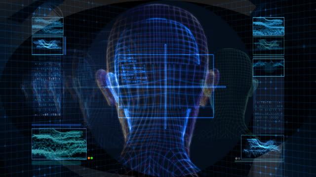 bionic 3 d 女性背(hd loop - 医療用スキャン点の映像素材/bロール