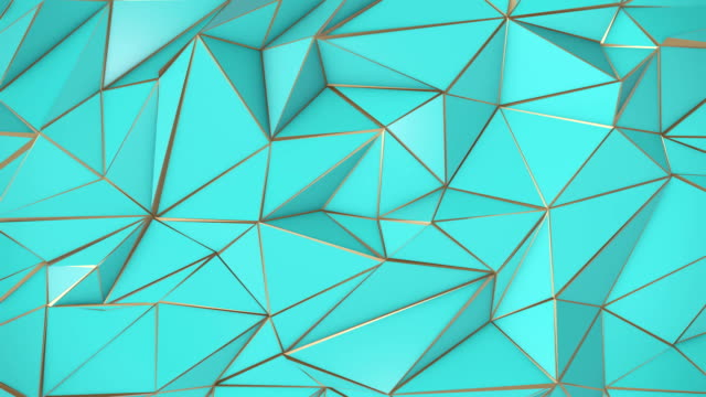 バーチ ゴールデン抽象低ポリ三角形の背景 - ローポリモデリング点の映像素材/bロール