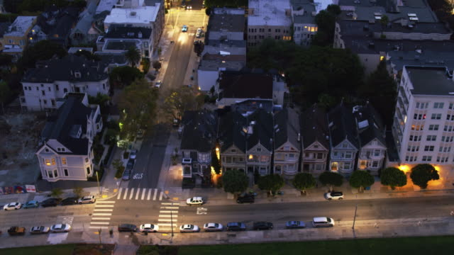 Birds Eye View of Alamo Square, San Francisco video