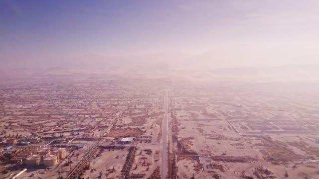 Bird's Eye View of Midway-Sunset Oil Field, Kern County, California video