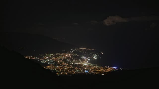 Bird's eye view of the port city at night. Bird's eye view of the port city at night. Timelapse of small town nightlife. aerial map stock videos & royalty-free footage