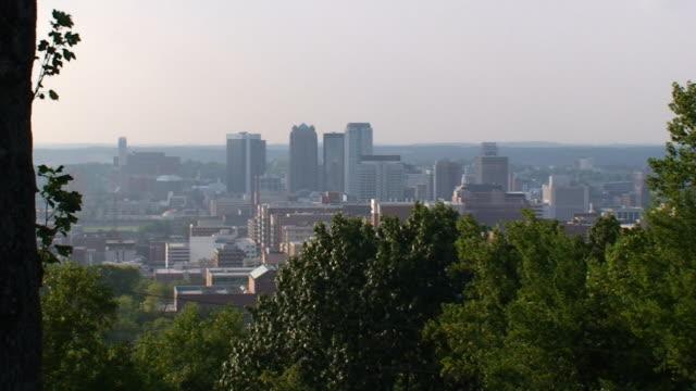 birmingham skyline - alabama stok videoları ve detay görüntü çekimi