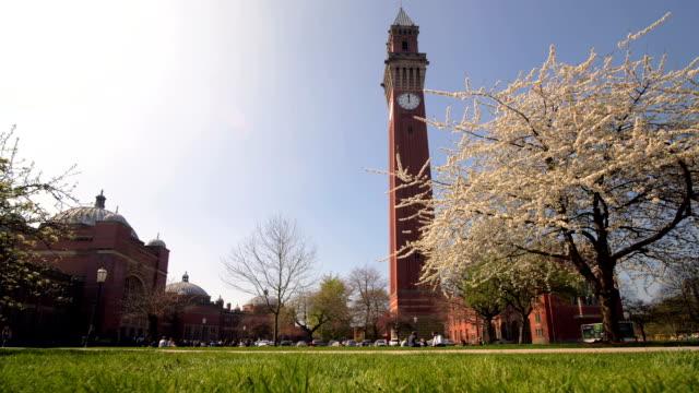 Birmingham University, Joseph Chamberlain Memorial Clock Tower. - vídeo