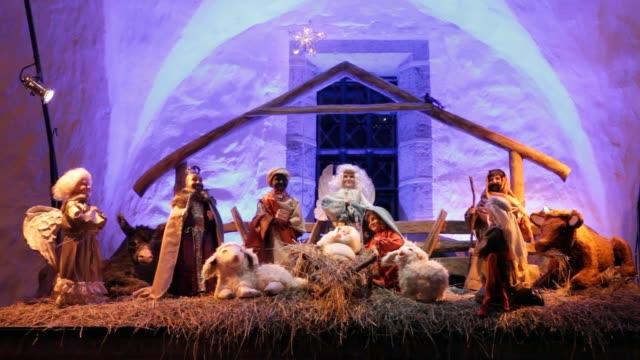 vídeos de stock e filmes b-roll de nascimento de jesus - reis magos