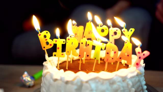 Birthday cake video