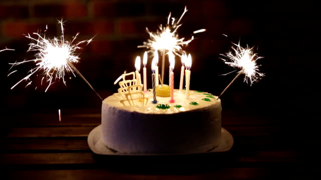 Phenomenal Birthday Cake With Lots Of Candles Stock Video Download Video Funny Birthday Cards Online Hendilapandamsfinfo