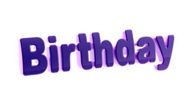 vidéos et rushes de anniversaire. images avec une résolution 4k a canal alpha. - fête de naissance