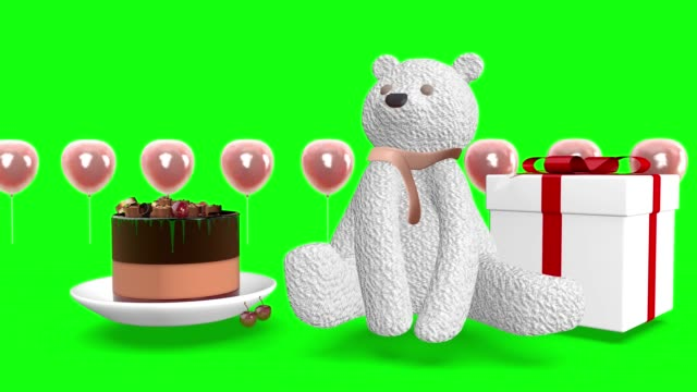 Birthday greetings, gifts and surprises. 3d rendering