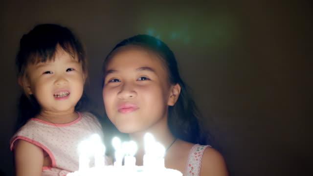 Birthday of the little girl video