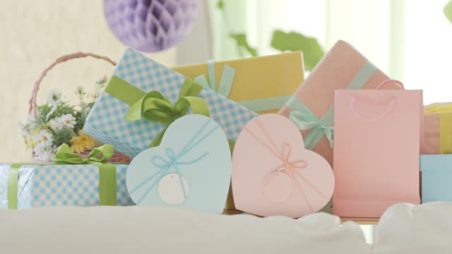 Birthday or baby shower party gifts video