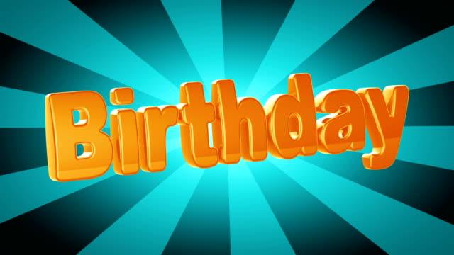 vidéos et rushes de anniversaire - fête de naissance