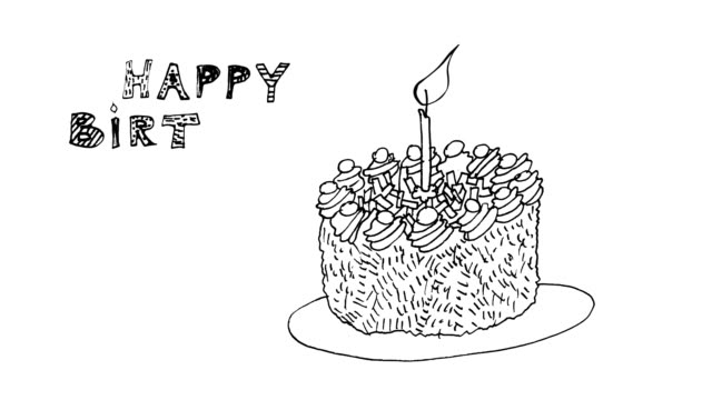 Birthday Happy Birthday card ,animation HD 1080 happy birthday stock videos & royalty-free footage