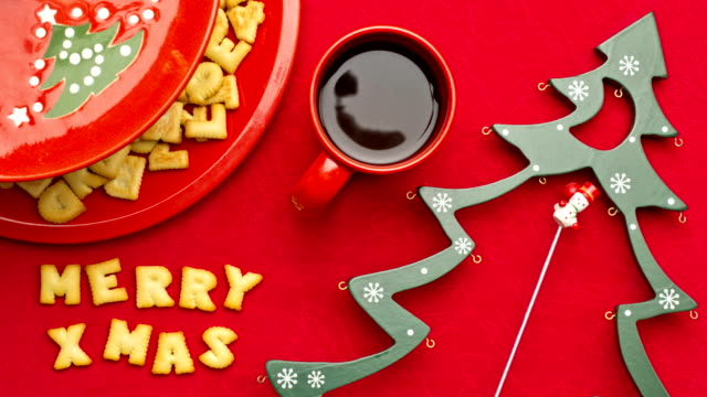 Biscuit of Merry Christmas and Happy New Year video