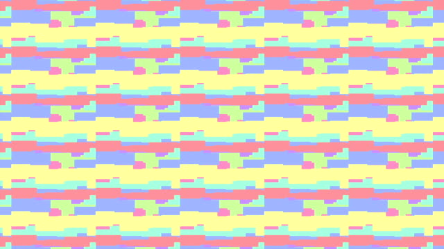 8 bit video game colorful pattern - stop motion animation loop video