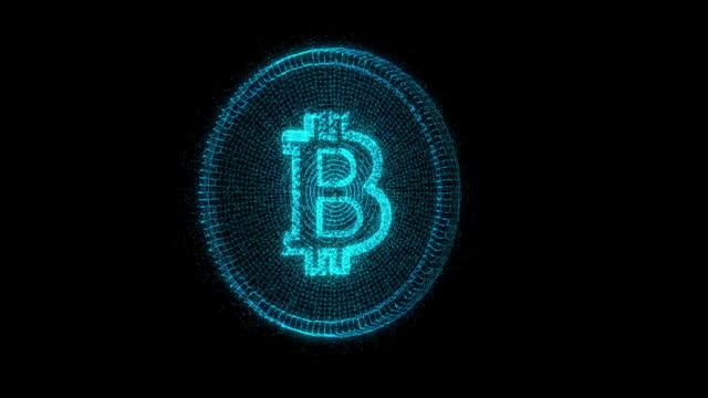bitcoin kryptovaluta futuristisk innovation digital - bitcoin bildbanksvideor och videomaterial från bakom kulisserna