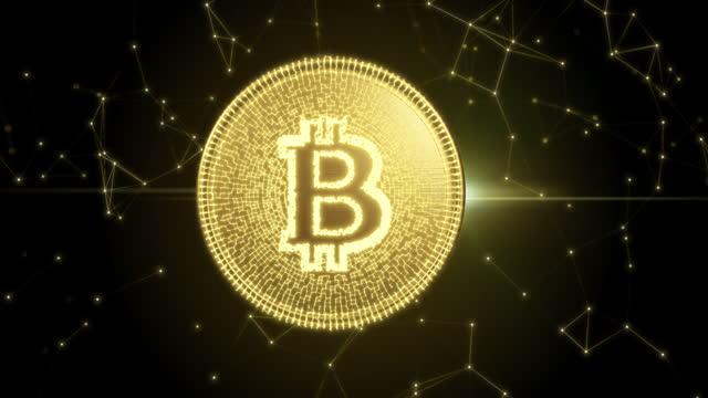 stockvideo's en b-roll-footage met bitcoin cryptogeld futuristische innovatie digitaal - bitcoin
