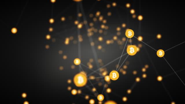 stockvideo's en b-roll-footage met bitcoin mining achtergrond - bitcoin