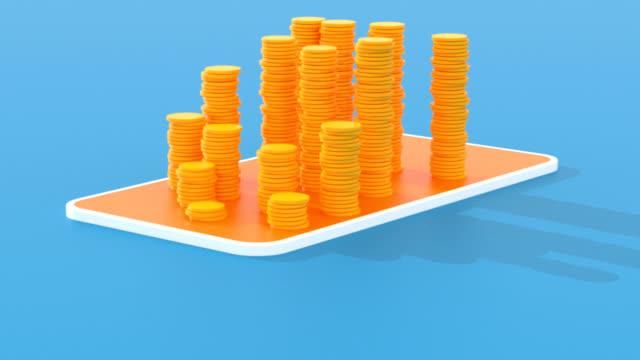 bitcoin money animation - 3d animation - криптовалюта стоковые видео и кадры b-roll