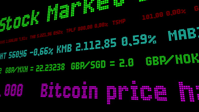 vídeos de stock e filmes b-roll de bitcoin price has recovered and has remained above - nyse crash