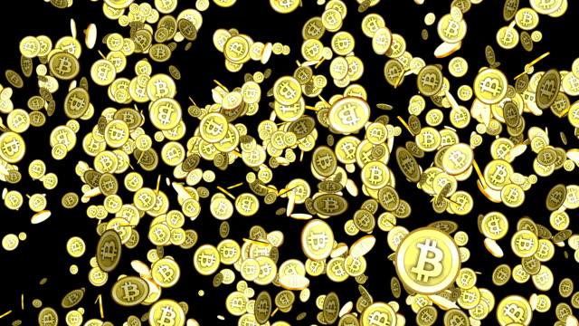 stockvideo's en b-roll-footage met bitcoin regen alfa motion - bitcoin