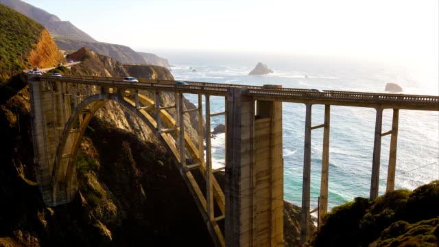 Bixby Bridge in Big Sur, California video