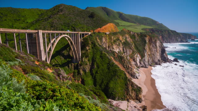 Bixby Bridge on highway One video