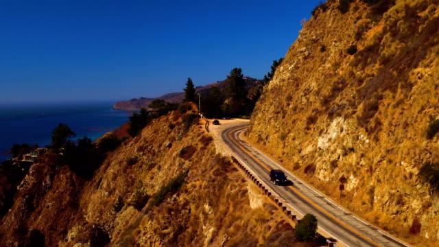 Bixby Creek Bridge Big Sur coast of California Aerial view Drone Bixby Creek video