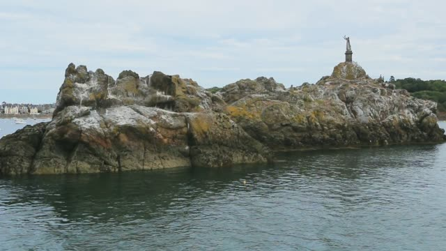Bizeux island in the estuary of the Rance. Brittany.