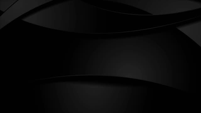 vidéos et rushes de conception abstraite noire de mouvement d'entreprise avec des vagues - gris