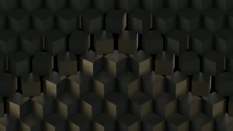 Black abstract technological background with cubes Black background with rotating cubes. Seamless loop design element stock videos & royalty-free footage