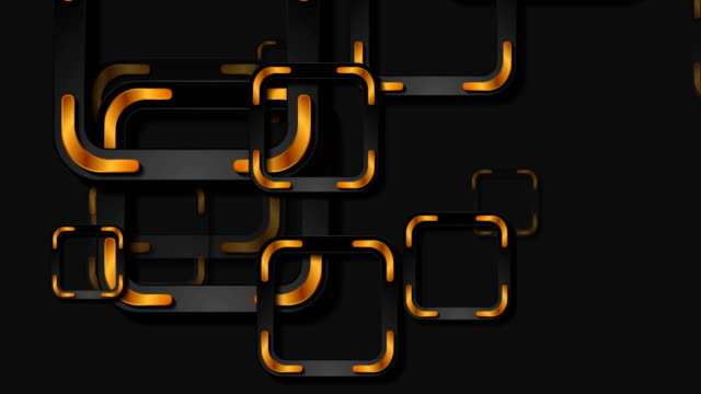 Black and bronze squares abstract geometric video animation Black and bronze squares abstract geometric motion design. Golden tech background. Seamless looping. Video animation Ultra HD 4K 3840x2160 seamless pattern stock videos & royalty-free footage