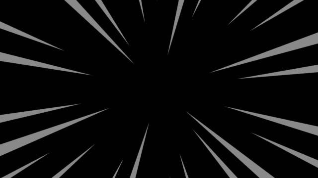 Zwarte en grijze radiale anime lijnachtergrond. video