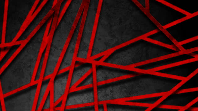 Black and red grunge grid pattern abstract motion background
