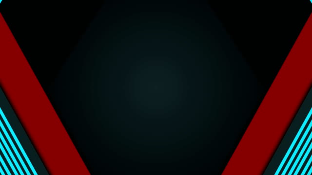 Black and red stripes abstract tech video animation 4k abstract background transition seamless pattern stock videos & royalty-free footage