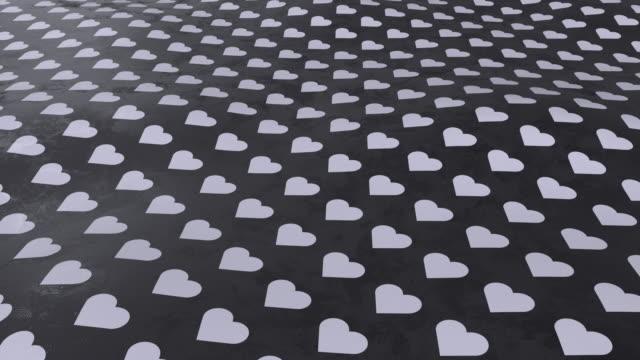 vidéos et rushes de un fond noir et blanc avec des symboles simples - image teintée