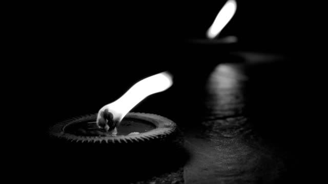 black and white fire flame, candle light pray faith peace of religion spirituality video