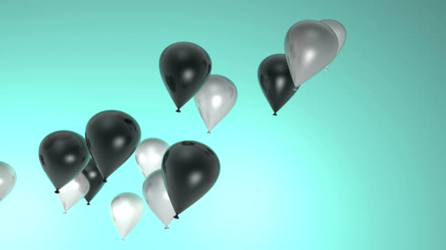 Black and White Flying Balloons video