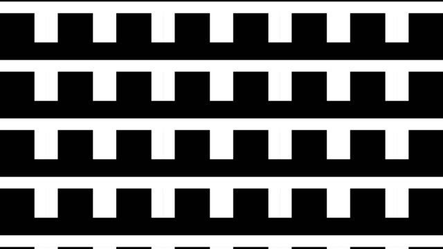 black and white geometric shapes, pattern motion