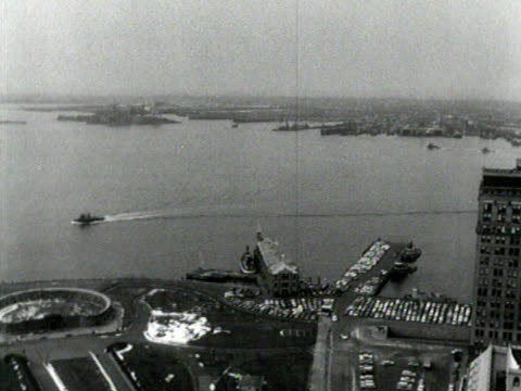 Black And White, high angle of lower Manhattan video