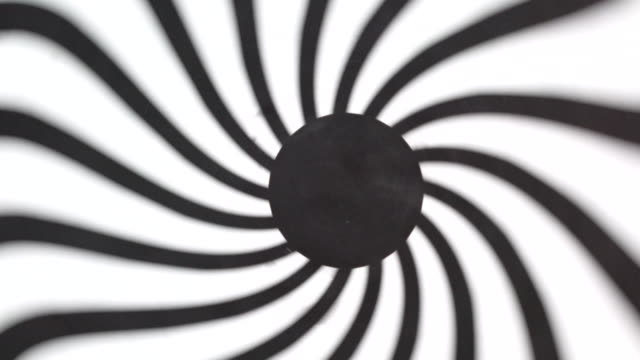 Black and white hypnotic concentric circle tunnel video