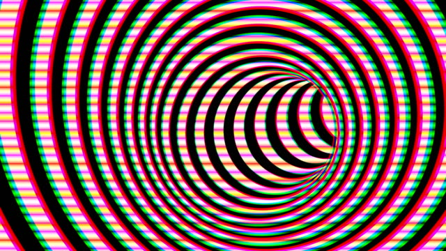 black and white hypnotic spiral - infinito video stock e b–roll