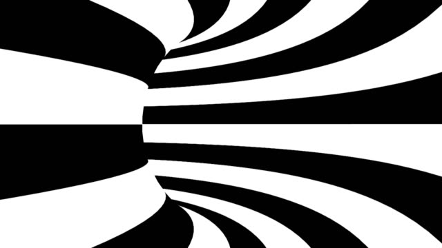 Black and white hypnotic tunnel. Seamless loop Black and white hypnotic tunnel. Seamless loop. illusion stock videos & royalty-free footage