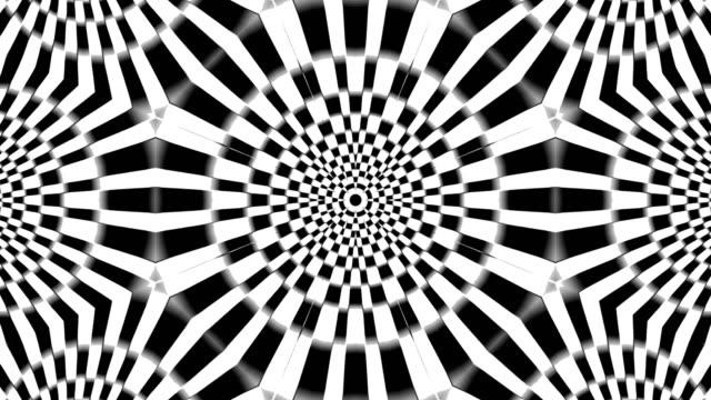 svart och vitt kalejdoskop - psykedelisk bildbanksvideor och videomaterial från bakom kulisserna