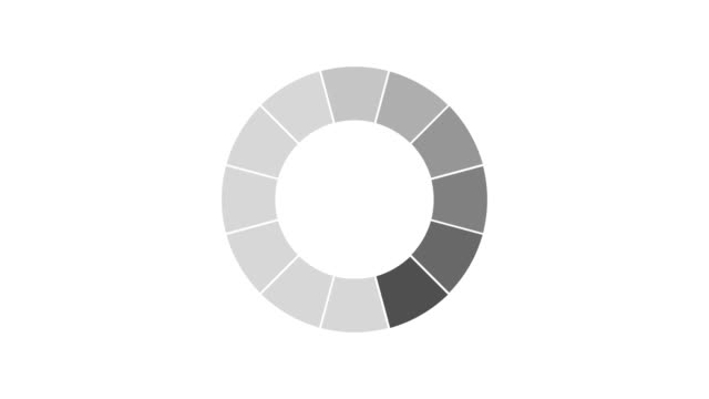 black and white loading and buffering indicator on dark background screen animation - langsam stock-videos und b-roll-filmmaterial