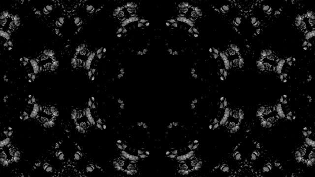 Black and white mandala motion graphic loop video