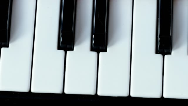 Black and white piano keyboard in detail. Piano keyboard. Home musical synthesizer. Black and white piano keyboard in detail. Piano keyboard. Home musical synthesizer. classical concert stock videos & royalty-free footage