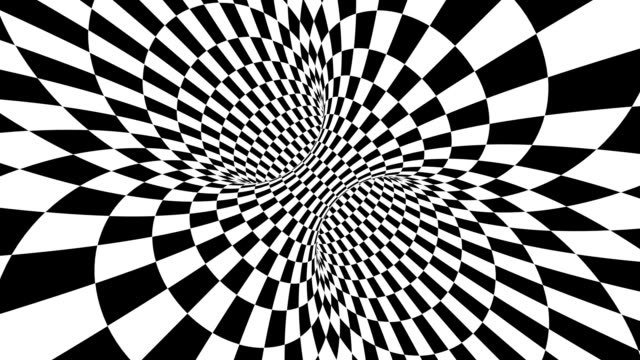 Black and white psychedelic optical illusion. Abstract hypnotic animated background. Checkered geometric looping wallpaper Black and white psychedelic optical illusion. Abstract hypnotic animated background. Checkered geometric looping monochrome wallpaper. Chess modern dynamic backdrop. 3D seamless full HD animation plaid stock videos & royalty-free footage