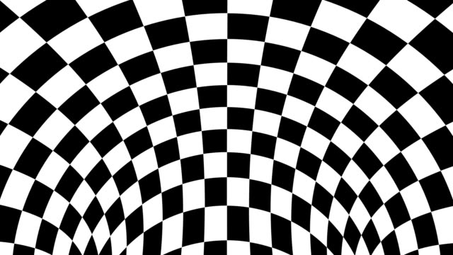 Black and white psychedelic optical illusion. Abstract hypnotic animated background. Checkered geometric looping wallpaper Black and white psychedelic optical illusion. Abstract hypnotic animated background. Checkered geometric looping monochrome wallpaper. Chess modern dynamic backdrop. 3D seamless full HD animation illusion stock videos & royalty-free footage