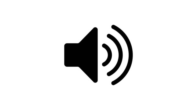 Black and White Sound Icon Audio Music Speaker Animation