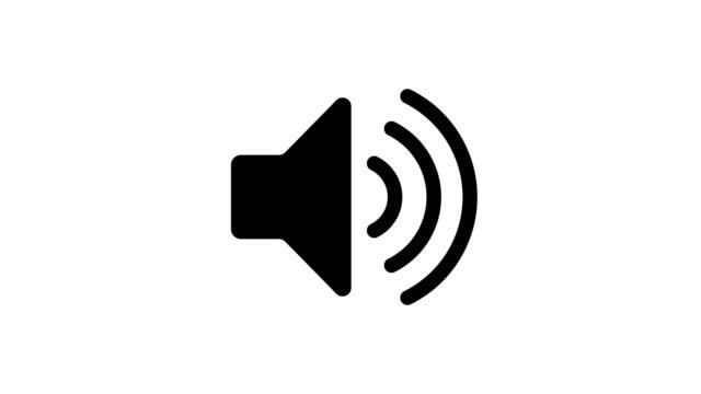 stockvideo's en b-roll-footage met zwart-wit geluidspictogram audio muziek speaker animatie - luidspreker